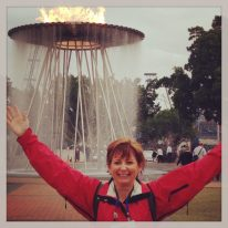 Debbie at Rotary International Convention