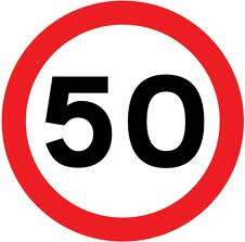 50 speed sign