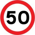50 speed sign