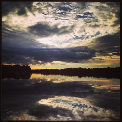 Morning reflection on the lake
