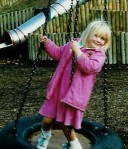 Eliza playing in Victoria Park in Bath