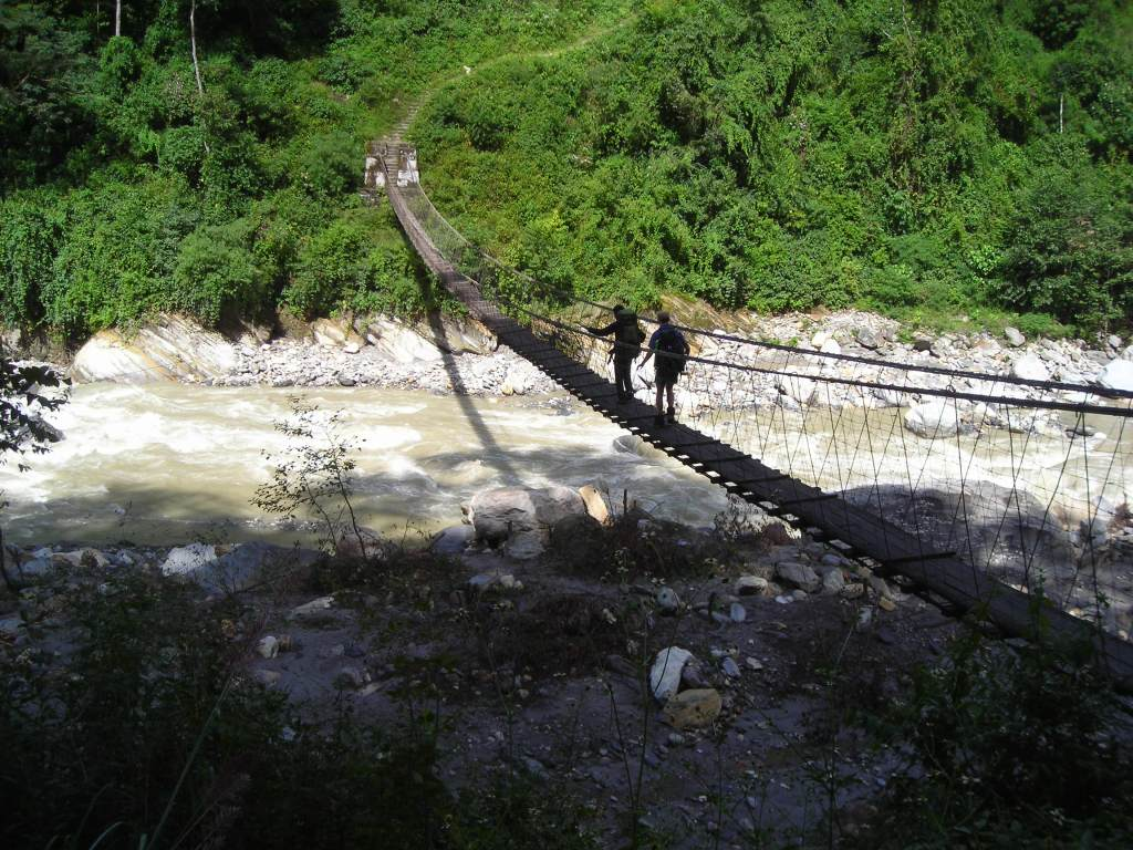 There were many very scary bridges to cross
