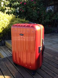 Have orange suitcase will travel!