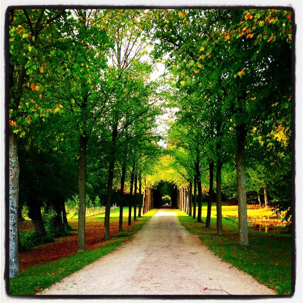 Castle grounds in Denmark