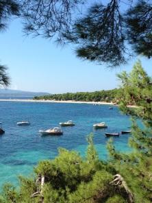 Famous beach in Croatia