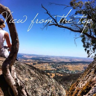View through the rocks