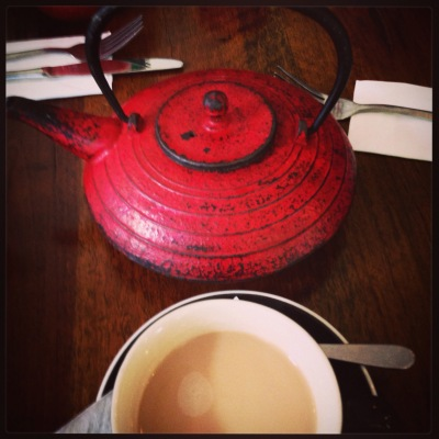 Teapot full of chai