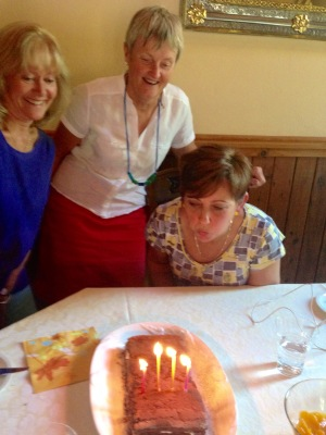 Blowing out the candles - apparently I'm only 4