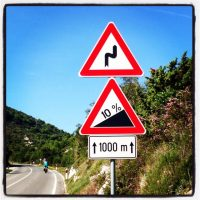 Steep ride in Croatia