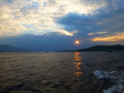 Croatia at sunset