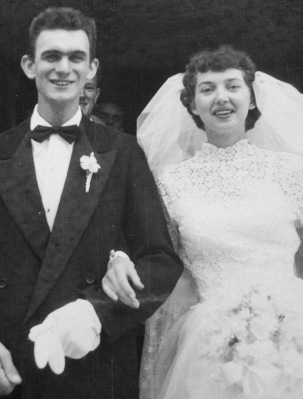 Les & Ruby on their Wedding Day 60 years ago!