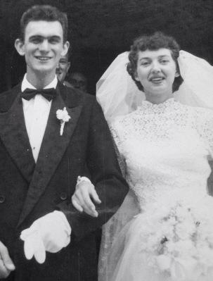 Les & Ruby on their Wedding Day 60 years ago!
