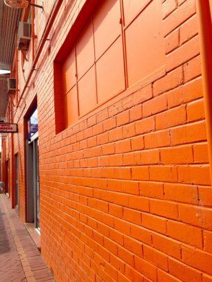 An orange alley