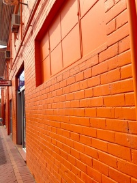 An orange alley