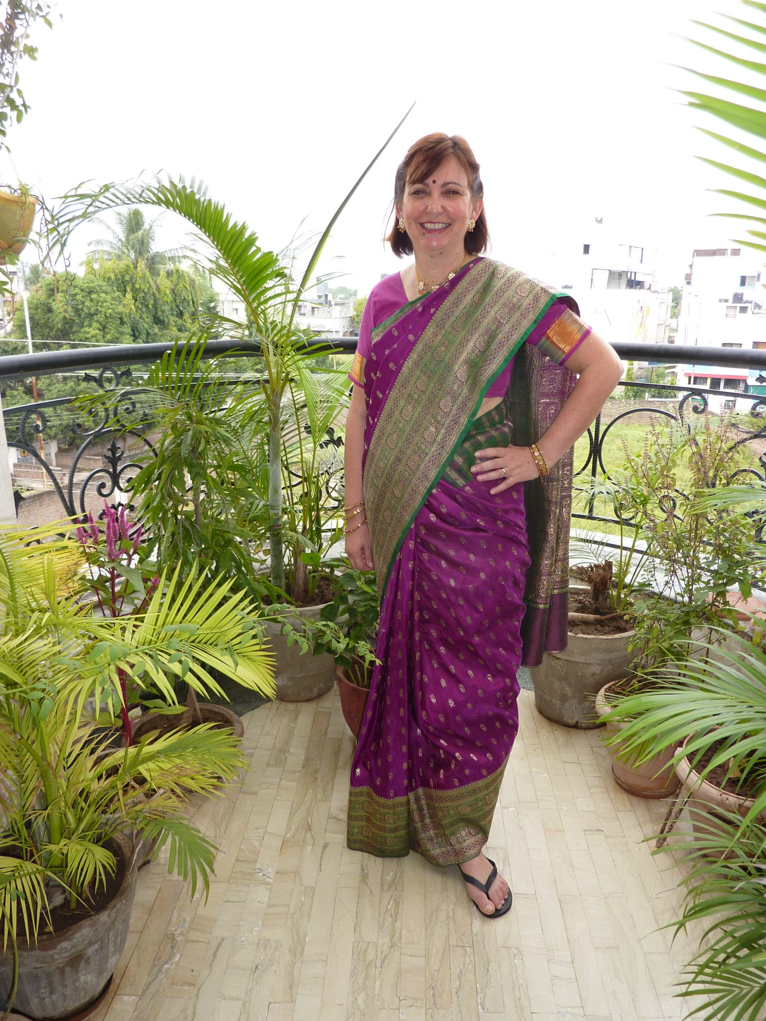 Another amazing sari on our Incredible India trip