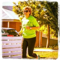 I can run and smile at the same time!