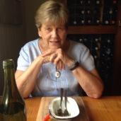 Mum enjoyed her dessert!