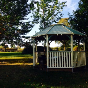 The gazebo in the afternoon light