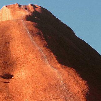 The track up Uluru