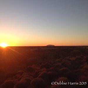 One of the many beautiful sunrises over Uluru