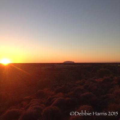 One of the many beautiful sunrises over Uluru
