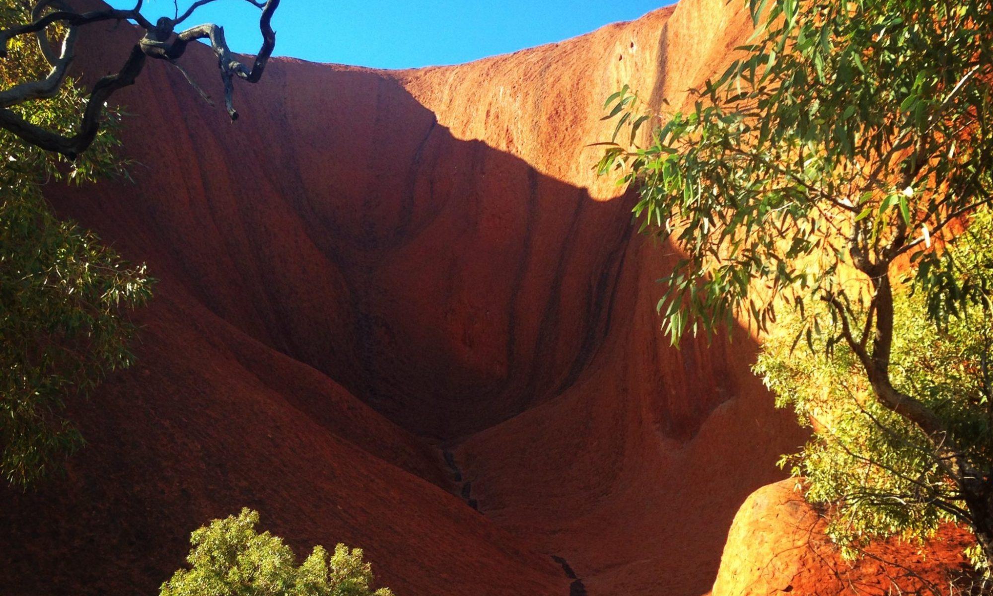 Inside the gorge at Uluru
