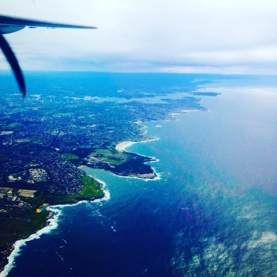 Flying into Sydney