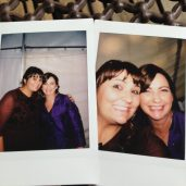 Melanie and Debbie at Sarah's wedding