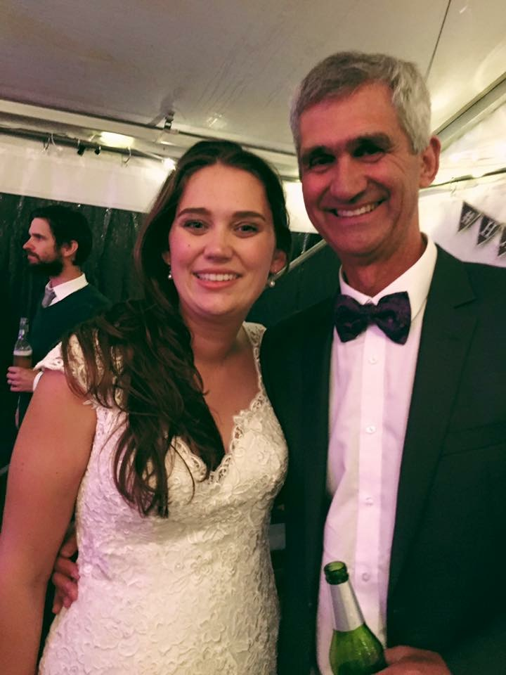 Father of the Bride at daughter's wedding
