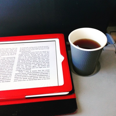 Flying, reading and tea - three of my favourite things