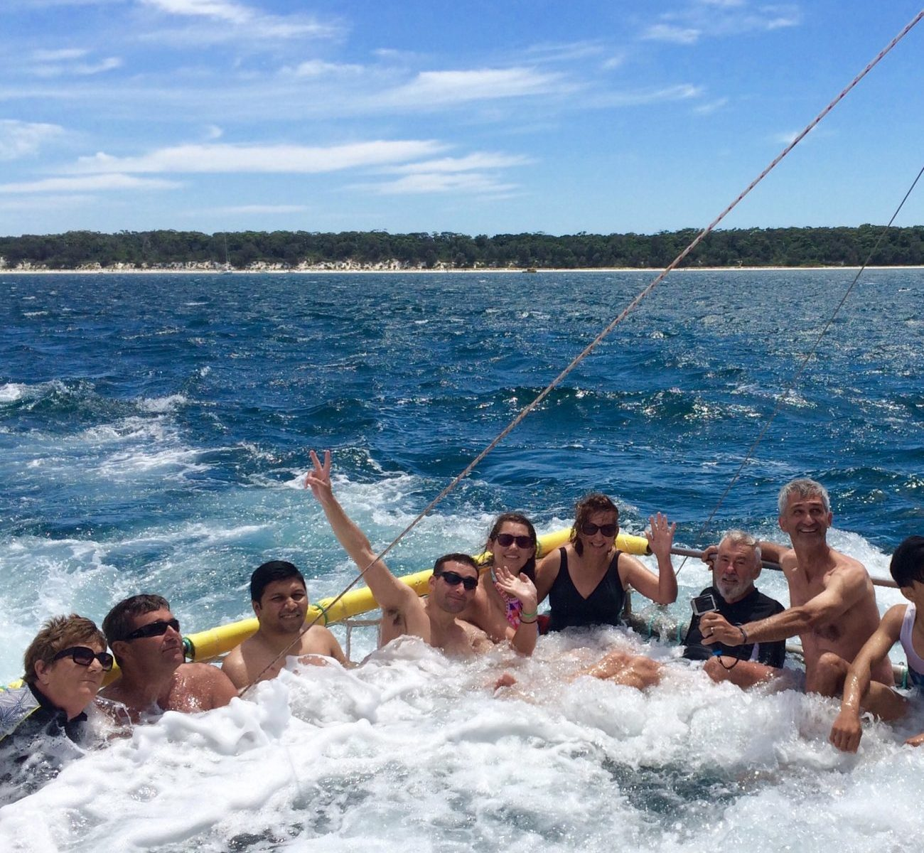 Boom netting fun on Jervis Bay