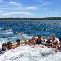 Boom netting fun on Jervis Bay