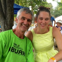 dad and daughter at Tumbafest