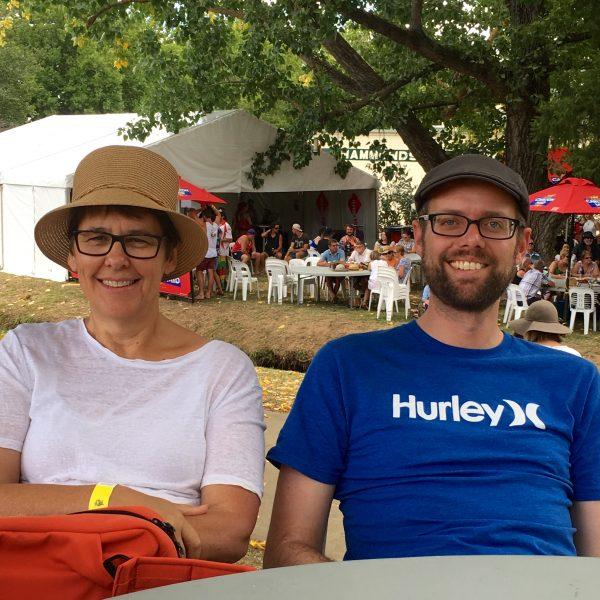 My sister and husband enjoying their day at Tumbafest
