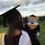 The bear graduated too