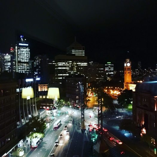 city lights in Sydney