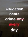 Education beats crime