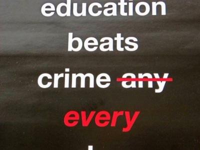 Education beats crime