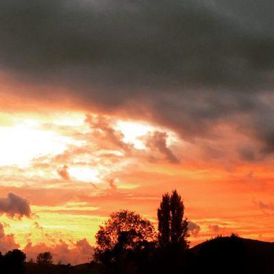 The sky at sunrise