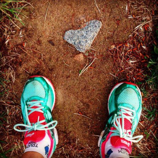 Heart rock at feet