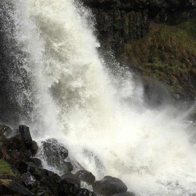 Water tumbling down near Tumbarumba at Paddy's River Falls