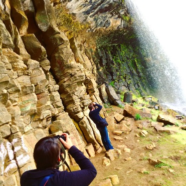 My sister and Tim capturing the majesty of the falls