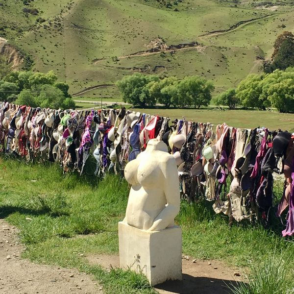 Lots of bras at Cardrona in New Zealand