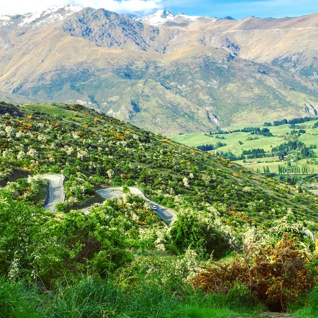 A great drive acorss Crown ridge in New Zealand