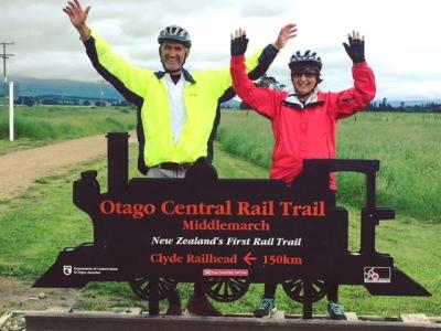 Finishing the Otago Rail Trail in New Zealand