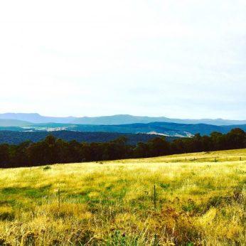 Views over mountains in Tumbarumba NSW Australia