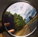 mirror on bike