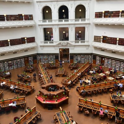 The reading room in Library Melbourne