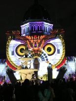 The owl on the Royal Exhibition building, White Night Melbourne