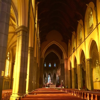 church, wedding, afternoon light